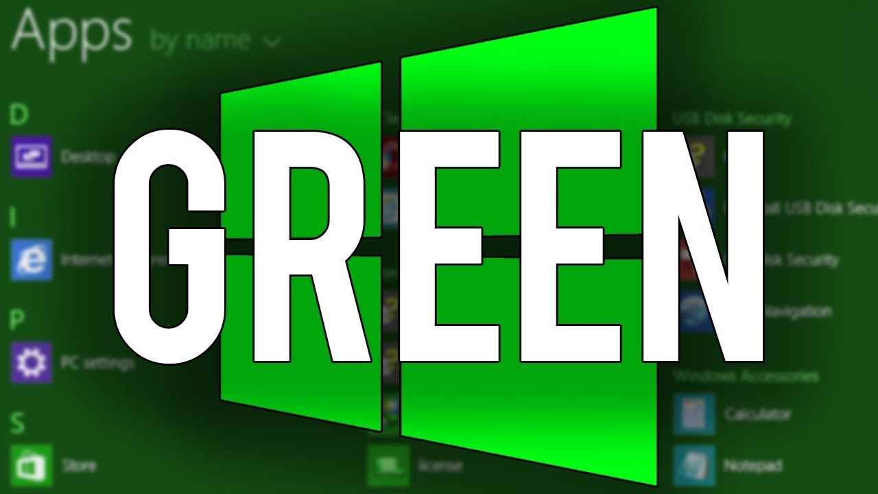Download Windows 8 Green Edition - Overview & Demo