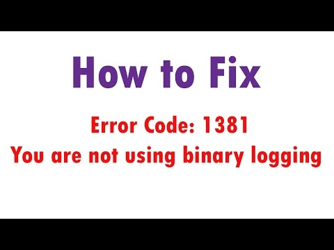 How to Fix you are not using binary logging Error in MySQL