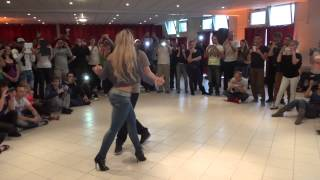 Видео: Bachata Madrid Style with Sara and Inaki at PBF 2013