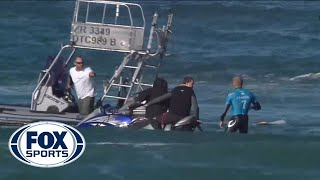 shark attack pro surfer mick fanning encounters shark in south africa