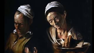 """Dipingendo """"Cena di Emmaus"""", copia da Caravaggio (M. Tizzano) Painting """"Supper in Emmaus"""".mov"""