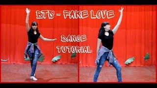 "Dance tutorial BTS - ""FAKE LOVE""|Разбор хореографии BTS - ""FAKE LOVE"" (mirrored)"