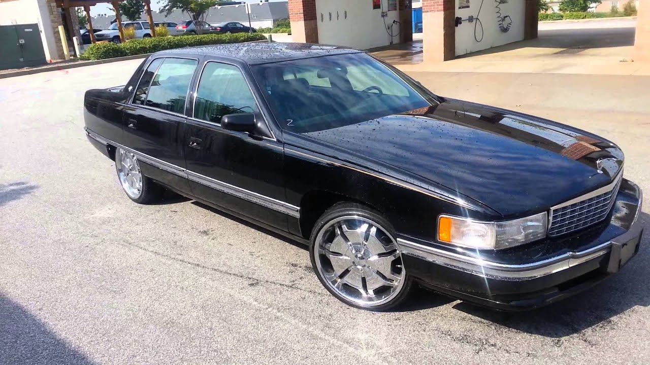 1995 CADILLAC DEVILLE 4.9 20 INCH RIMS - YouTube