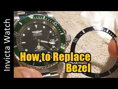 Invicta 8926 Watch - Replacing/Change Damaged Bezel