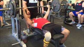 John Stearns Benching his bodyweight of 185 for 38 reps at the Reps for Charlie Fundraiser, 12/13/14