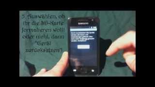 Samsung Galaxy S Wifi 3.6 Internet (W-Lan )/ GPS funktioniert nicht mehr - Lösung - byTsessii