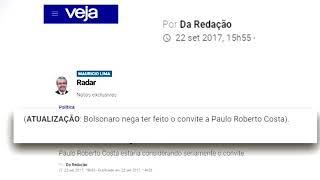 Jornalixo: Maurício Lima (Veja) mente sobre Bolsonaro convidar Paulo Roberto Costa a candidatar-se