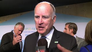 """CA Gov. Jerry Brown Tells Indigenous Activists Protesting Fracking He'll Put Them """"In the Ground"""""""