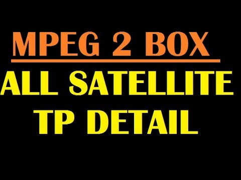 ALL SATELLITE STRONG TP DETAIL FOR MPEG2 OR MPEG4 SETTOP BOX