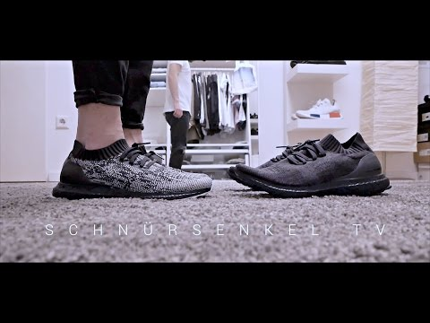 the best attitude 603f5 02532 adidas ultra boost triple black 3.0 vs 2.0 uncaged review unboxing on feet  video sneakerporn german