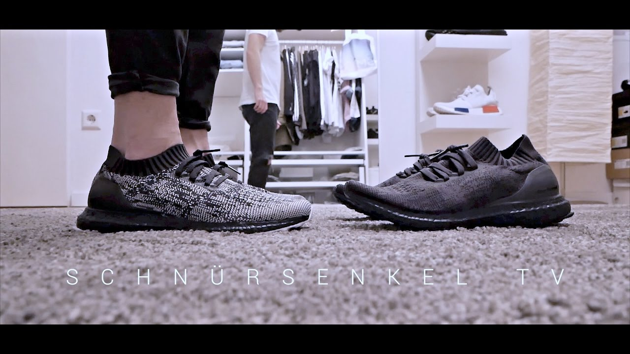 d1689e04d771f adidas ultra boost triple black 3.0 vs 2.0 uncaged review unboxing on feet  video sneakerporn german