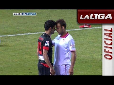 Rifirrafe entre Diego Costa y Cala por un supuesto golpe en la cara - HD