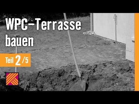 Gut gemocht Version 2013 WPC-Terrasse bauen - Kapitel 2 : Auskoffern JR21