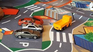 Driving Toy Cars with Dlan on Dickie Toys play Carpet