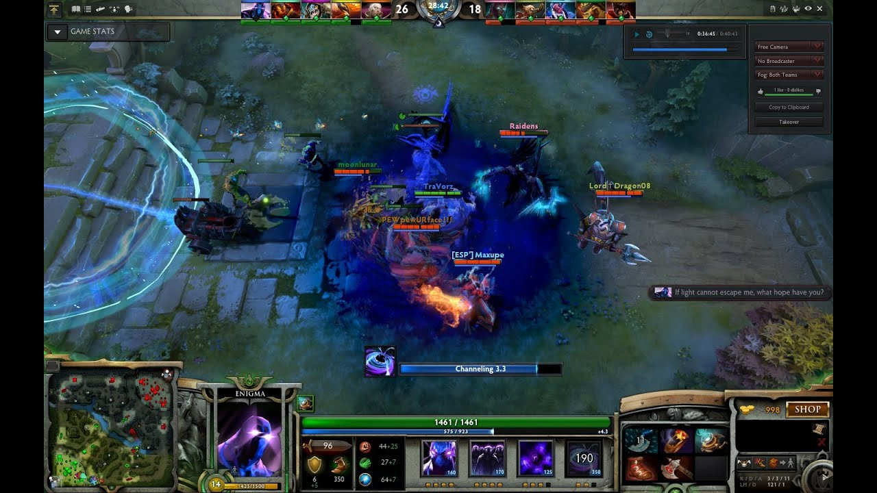 dota 2 enigma 5 men blackhole youtube