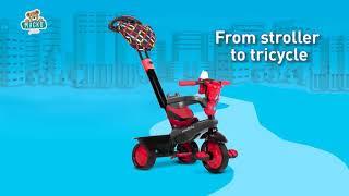 Tříkolka Boutique Blue Touch Steering 4v1 smarTrik