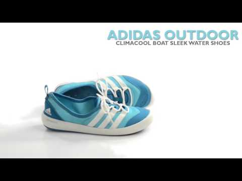 Adidas Outdoor Climacool Boat Sleek Water Shoes (For Women) - YouTube