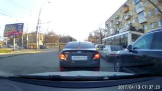 Вопиющее нарушение ПДД водителем автобуса попало на видео