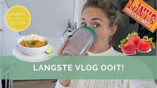 Mijn eetdagboek en langste vlog ooit | Sanny zoekt Geluk