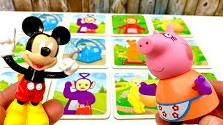 Memory Teletubbies Game with Mickey Mouse and Peppa Pig  Gra z Myszka Miki i Swinka Peppa