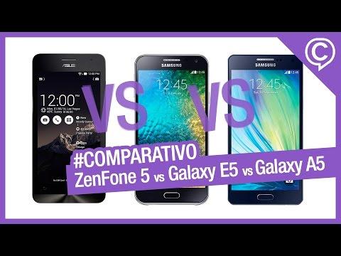 Comparativo Rápido Asus ZenFone 5 vs Samsung Galaxy E5 vs Samsung Galaxy A5