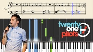 twenty one pilots a car a torch a death piano tutorial sheets