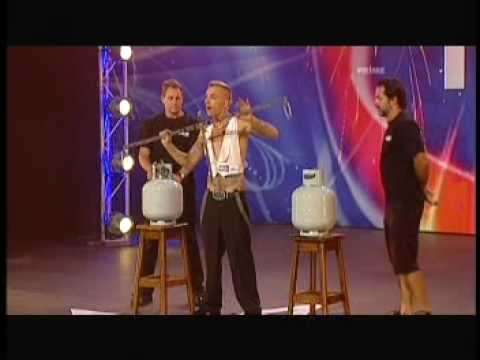 The Space Cowboy on Australia's Got Talent. CRAZY WORLD RECORD STUNT!!!