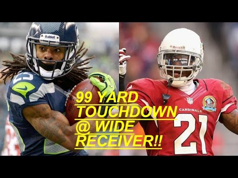 WHO CAN GET A 99YD TOUCHDOWN FIRST?!? RICHARD SHERMAN VS PATRICK PETERSON AT WIDE RECEIVER!!