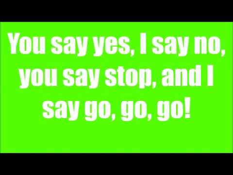 The Beatles  Hello, Goodbye  ( Lyrics )