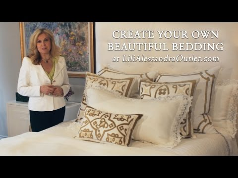 Create Your Own Beautiful Bedding – White with Gold, Part 1