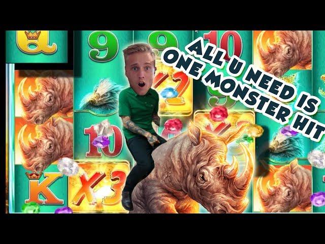 BIG WIN!!!!! Raging Rhino HUGE WIN from LIVE STREAM (Casino Games)