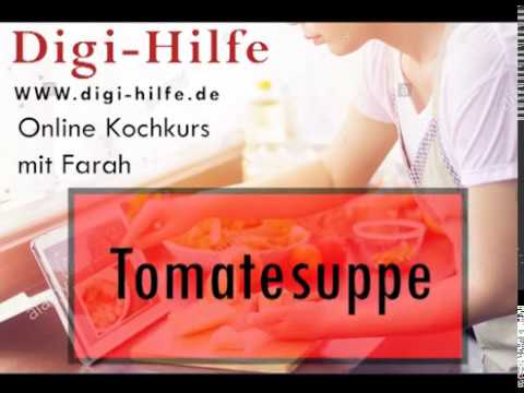 live cooking! Tomatensuppe