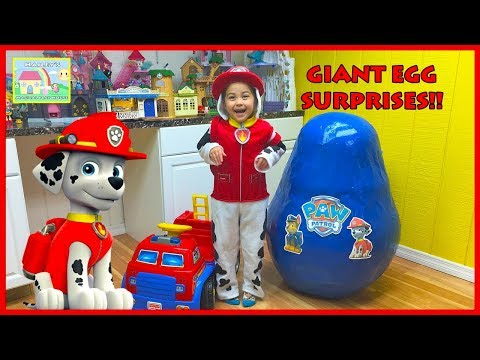 Thumbnail: World's Biggest PAW PATROL EGG SURPRISE TOYS Opening PowerWheels Ride-On Toy Frozen Elsa Kids Video