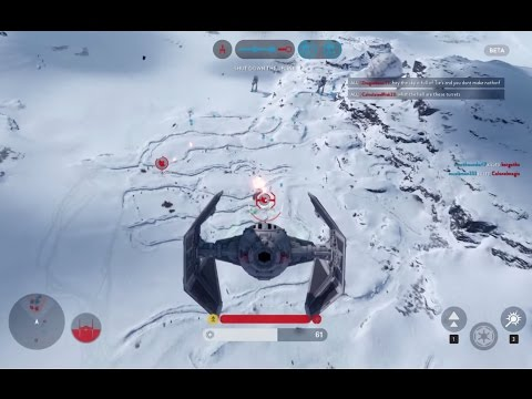 Star Wars: Battlefront Beta Gameplay - AT-ST, TIE Fighter, and TIE Interceptor