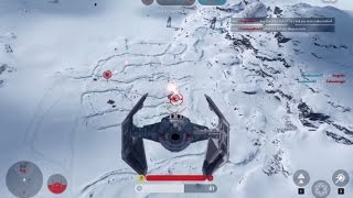 Star Wars: Battlefront Beta Gameplay| AT-ST, TIE Fighter, and TIE Interceptor