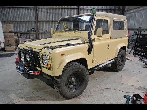build your own military land rover defender youtube. Black Bedroom Furniture Sets. Home Design Ideas
