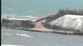 Sea Waves Predicted Tsunami Coming at Kanniyakumari
