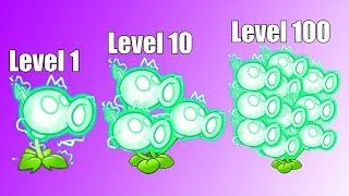 Plants vs Zombies 2 Mod: ELECTRIC PEASHOOTER LEVEL 1-10-100 vs GARGANTUAR FIGHT!