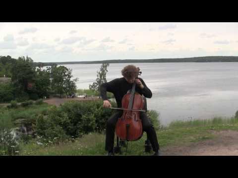 Fedor Amosov plays his Folk Fantasy for cello solo
