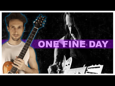 How to play ONE FINE DAY by Myles Kennedy  SLOW INTRO TUTORIAL