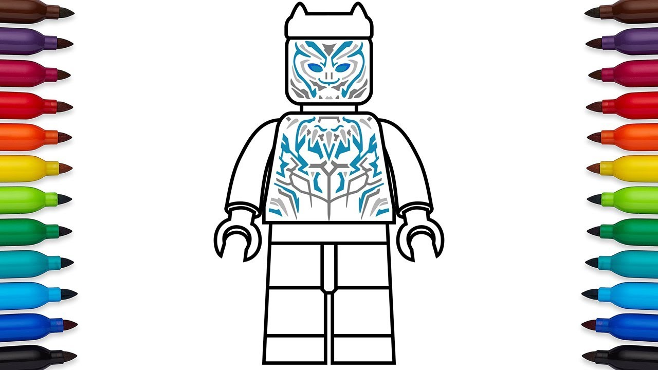 How To Draw Lego Black Panther Vibranium Suit From Marvel S Black