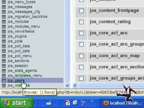 Recover Change Password In Joomla 1.5 To 1.5.18 Via Md5  -- HD