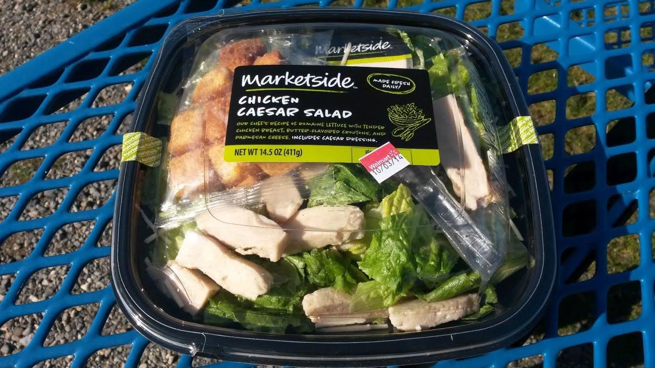 Walmart Marketside Chicken Caesar Salad Review - YouTube
