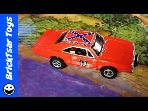 Dukes of Hazzard Curvehuggers Slot Car set with General Lee - Review :(