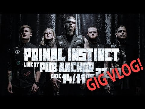 GIGVLOG - Primal Instinct live at Pub Anchor, Stockholm