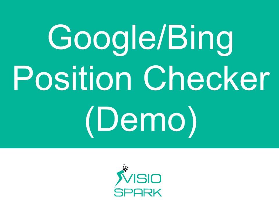 Online keyword rank checker or SERP checker