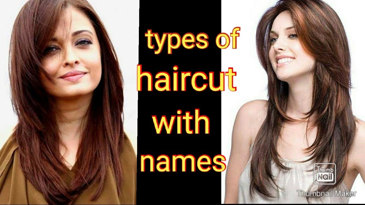 Types Of Haircut For Girls With Names Youtube