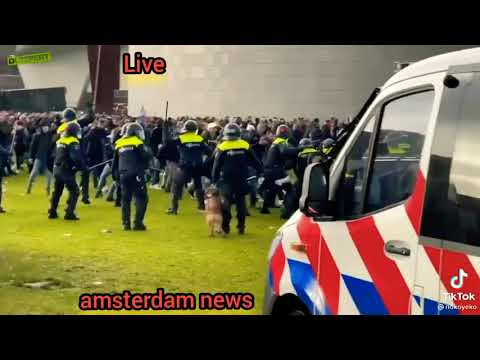 peacefully Netherlands protest in amsterdam dutch police happy to help