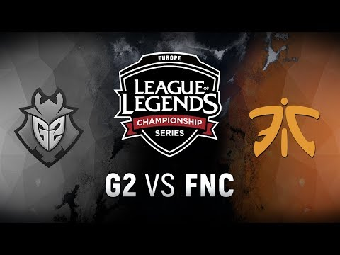 G2 vs. FNC - Week 6 Day 2 | EU LCS Spring Split |  G2 Esports vs. Fnatic (2018)