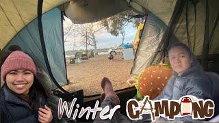 Winter camping at Wooroonook Lake Life in regional Australia